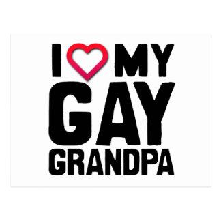 I LOVE MY GAY GRANDPA -.png Post Card