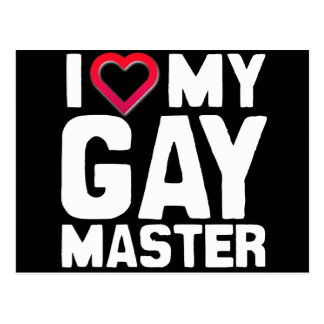 I LOVE MY GAY MASTER - -.png Postcards