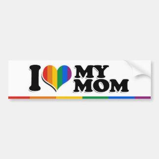 I LOVE MY GAY MOM -.png Car Bumper Sticker