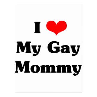 I love my gay mommy postcard