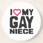 I LOVE MY GAY NIECE -.png Drink Coasters
