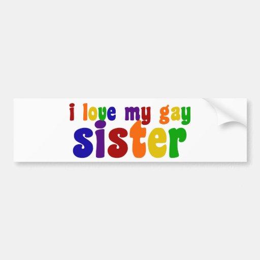 I Love My Gay Sister Car Bumper Sticker