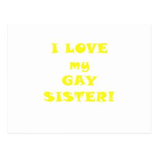 I Love my Gay Sister Postcard