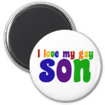 I Love My Gay Son 2 Inch Round Magnet