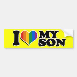 I LOVE MY GAY SON -.png Car Bumper Sticker