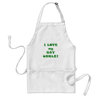 I Love my Gay Uncle Adult Apron