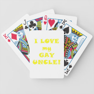 I Love my Gay Uncle Bicycle Playing Cards