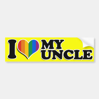 I LOVE MY GAY UNCLE --.png Car Bumper Sticker