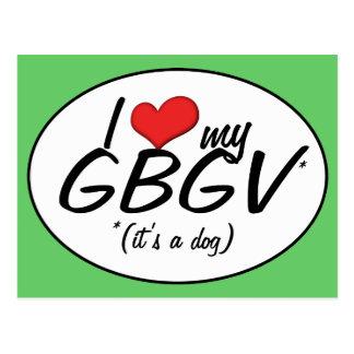 I Love My GBGV (It's a Dog) Postcard