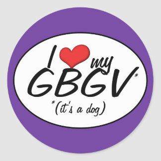 I Love My GBGV (It's a Dog) Stickers