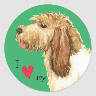I Love my GBGV Round Sticker