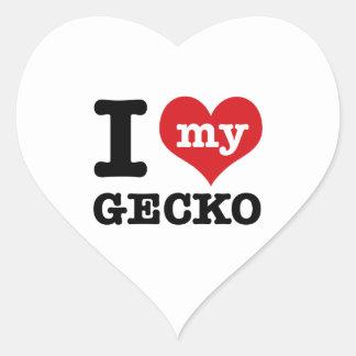 I love my Gecko Heart Sticker