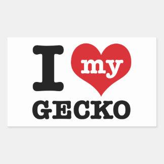 I love my Gecko Rectangular Sticker