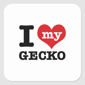 I love my Gecko Square Sticker
