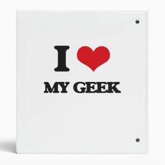 I Love My Geek Vinyl Binders