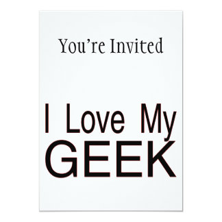 I Love My Geek Card