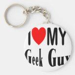 I Love My Geek Guy Keychains