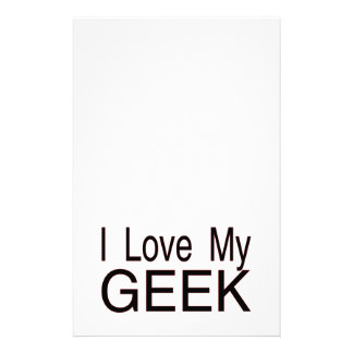 I Love My Geek Stationery