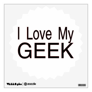I Love My Geek Wall Decal