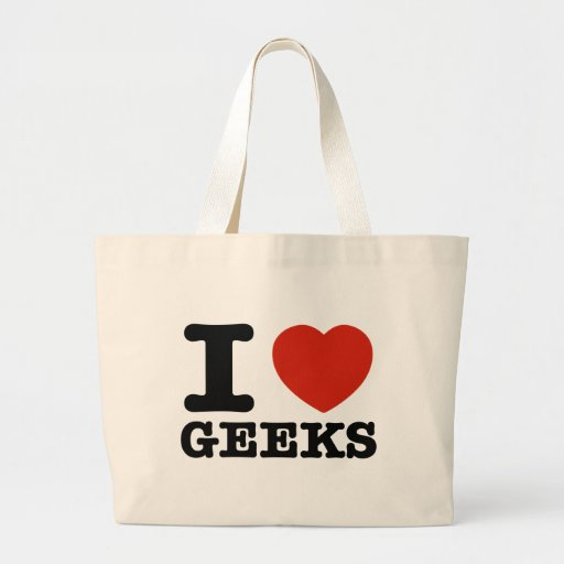 I love my geeks canvas bags