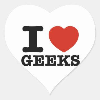 I love my geeks heart sticker