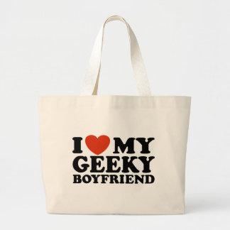I Love My Geeky Boyfriend Bags