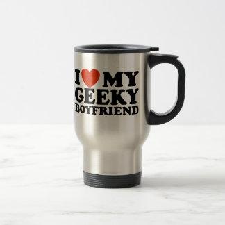 I Love My Geeky Boyfriend Travel Mug