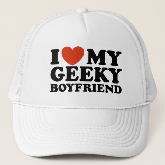 I Love My Geeky Boyfriend Trucker Hat