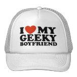I Love My Geeky Boyfriend Trucker Hat