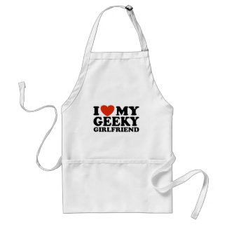 I Love My Geeky Girlfriend Adult Apron