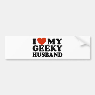 I Love My Geeky Husband Bumper Sticker
