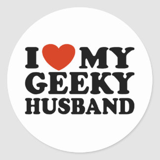 I Love My Geeky Husband Stickers
