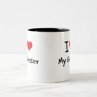 I Love My Geezer Two-Tone Coffee Mug