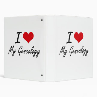 I Love My Geneology 3 Ring Binders