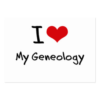 I Love My Geneology Business Card Templates