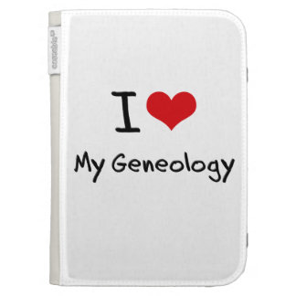 I Love My Geneology Cases For Kindle