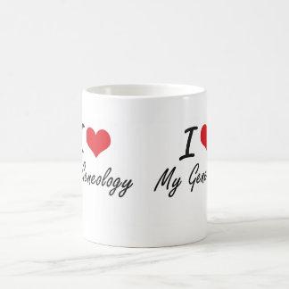 I Love My Geneology Classic White Coffee Mug
