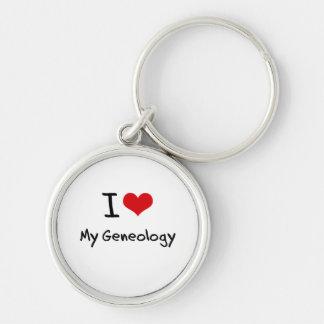 I Love My Geneology Keychains