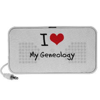 I Love My Geneology Laptop Speaker