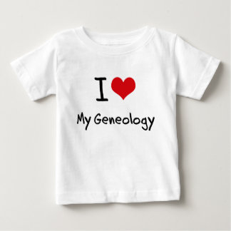 I Love My Geneology T Shirts