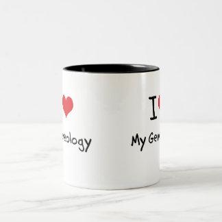 I Love My Geneology Two-Tone Coffee Mug