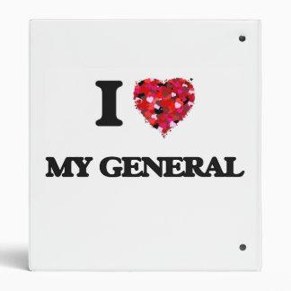 I Love My General 3 Ring Binder