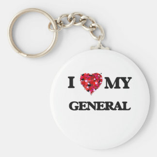 I love my General Basic Round Button Keychain