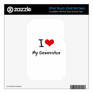 I Love My Generator iPod Touch 3G Skins