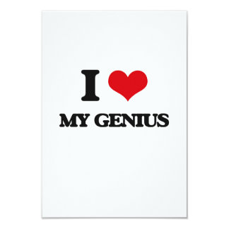 I Love My Genius 3.5x5 Paper Invitation Card