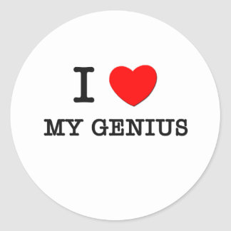 I Love My Genius Classic Round Sticker