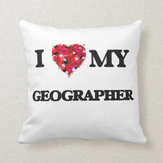 I love my Geographer Throw Pillow