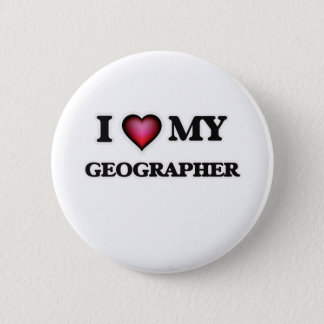 I love my Geographer Pinback Button