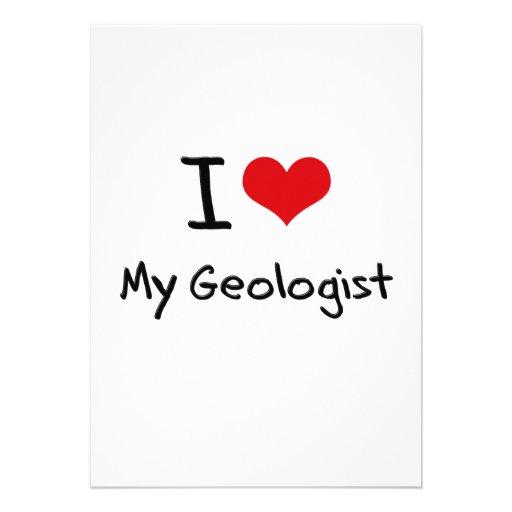 I Love My Geologist Invites