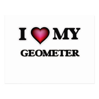 I love my Geometer Postcard